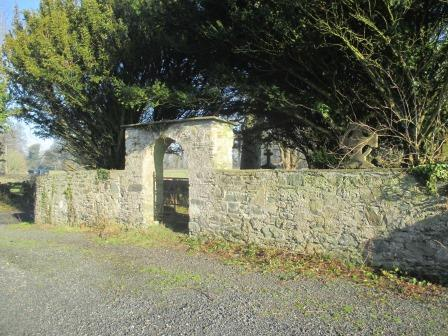 The entrance to the Ruins of Great Connell Priory, Newbridge