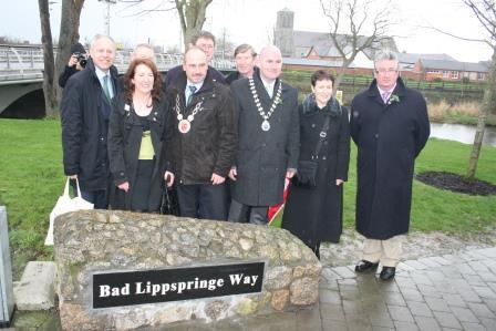 "Dedication of the ""Bad Lippspringe Way"" - Liffey Linear Park"